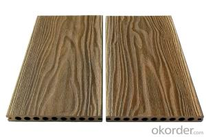 WPC outdoor wood plastic floor HDPE wood plastic material