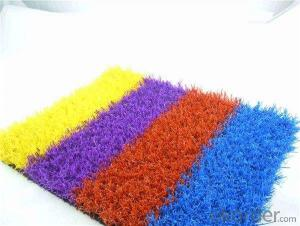 Natural colourful artificial grass for landscape