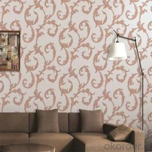 Double Tongue Floral Wallpaper Home Wall Decorative Wallpaper 3d, PVC Wall Paper for Indonesia