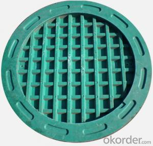 Cast OEM ductile iron manhole cover with superior quality for industries