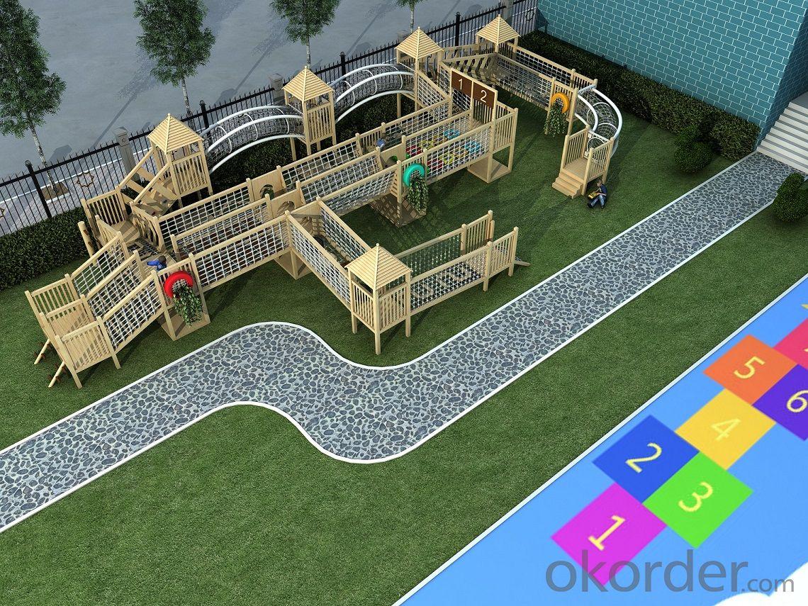 preschool children Amusement equipment outdoor playground wooden slide