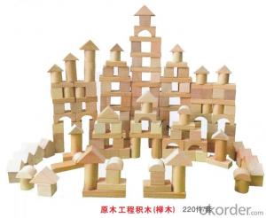 children preschool outdoor playground Amusement equipment wooden toy brick