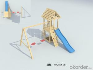Amusement equipment for baby preschool wooden swing outdoor playground