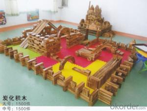 Amusement equipment children preschool wooden toy brick outdoor playground