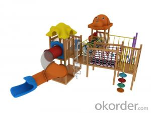 Outside Wooden Adventure Playground for Preschool