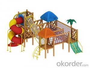 outdoor playground children preschool wooden slide Amusement equipment