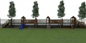 Children Outdoor Adventure Wooden Playground