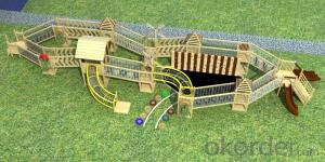 Kindergarten Outdoor Adventure Wooden Playground for Kids
