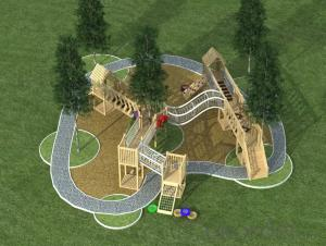 Backyard Outdoor Adventure Wooden Playground for Kindergarten