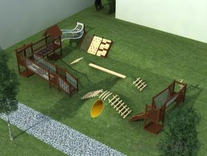 Outdoor Adventure Wooden Playground for Preschool Backyard