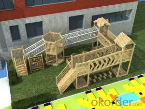 Kids Amusement equipment wooden outdoor playground