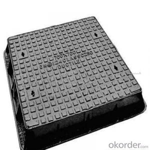 Ductile Iron Manhole Cover with Hinges and Lock in Various Size