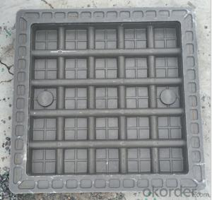 Cast OEM ductile iron manhole cover with superior quality for industries with frame