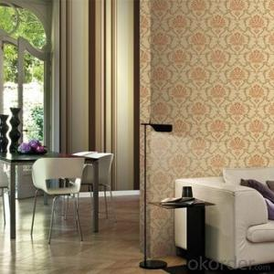 Modern Metal Commercial Vinyl Wallpaper 3D Wood Grain Wallpaper