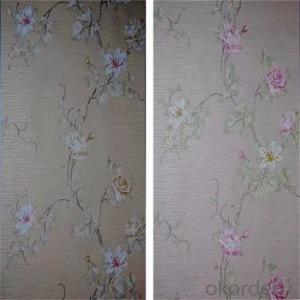 137cm width Heavy Thick Home Commercial Waterproof Washable Peelable Fabric Backed Vinyl Wallpaper