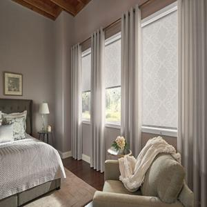 Retractable Silver  Roller Window Blinds