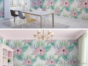 Embossed Natural Flower Modern Brief PVC Self-Adhesive Wallpaper