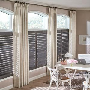 Wood Kitchen Persian Motorized Valance Blinds