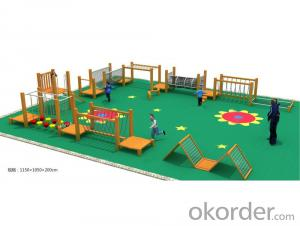 Kids Amusement equipment wooden physical fitness training outdoor playground preschool