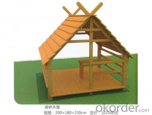 Kids Amusement equipment wooden outdoor playground Forest house preschool