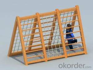 Kids Amusement equipment wooden outdoor playground Climbing frame  preschool HX1301L