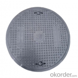 Cast OEM ductile iron manhole cover with superior quality for industries with frames