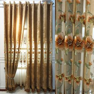 Living room bedroom all rooms chenille curtains shading embroidered curtain blackout fabrics