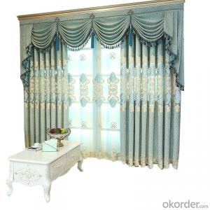 Chenille hollow patchwork embroidered curtain
