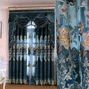 chenille hollow water soluble embroidered curtain