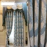 Curtains European high-precision chenille jacquard curtain fabric