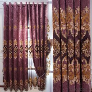 Home curtain hotel curtain blackout curtain chenille embroidered curtain