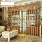 Home curtain hotel curtain blackout curtain cashmere hollow water-soluble embroidery curtain fabric