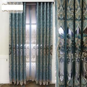 Home curtain hotel curtain blackout curtain Chenille hollow water soluble embroidery curtain fabric