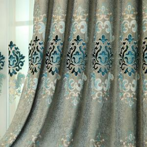 Home curtain hotel curtain blackout curtain chenille jacquard velvet  embroidered curtain