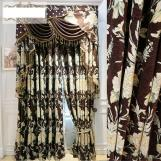 Home curtain hotel curtain blackout curtain chenille embossed jacquard curtain