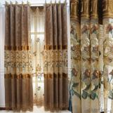 Home curtain hotel curtain blackout curtain Chenille water soluble patchwork embroidered curtain