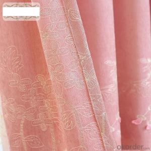 Home curtain hotel curtain blackout curtain Chenille embossed embroidered blackout curtain