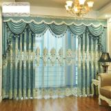 Home curtain hotel curtain chenill cashmere hollow water-soluble embroidery curtain fabric