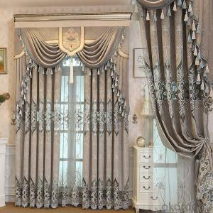 Home curtain hotel curtain blackout curtain chenille shading embroidered curtain fabrics