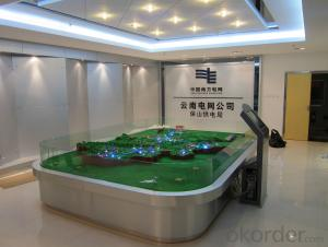 Building Model Sand Table with Acrylic Extrusion Board, Plexiglass, Garden Species and so on