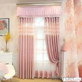 Home curtain hotel curtain blackout curtain thick chenille pink curtain fabric