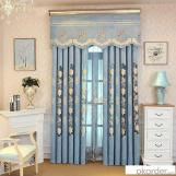 Home curtain hotel curtain blackout curtain Chenill embroidered curtain fabric