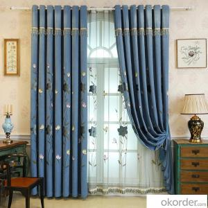 Home curtain hotel curtain blackout curtain Chevron  embroidered curtain fabric