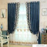 Home curtain hotel curtain blackout high-end velvet embroidery  curtain