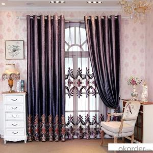Home curtain hotel curtain blackout curtain velvet laser embroidered velvet curtain