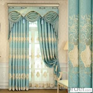 Home curtain hotel curtain blackout curtain European embroidery curtain fabric