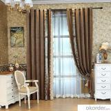 Home curtain hotel curtain blackout curtain  Laser velvet embroidered velvet curtain