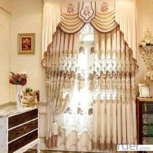 Home curtain hotel curtain blackout curtain embroidery chenille jacquard blackout curtain