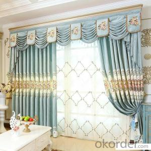 Home curtain hotel curtain blackout curtain shade European curtain fabric