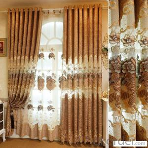Home curtain hotel curtain blackout curtain half shade embroidered   curtain fabric